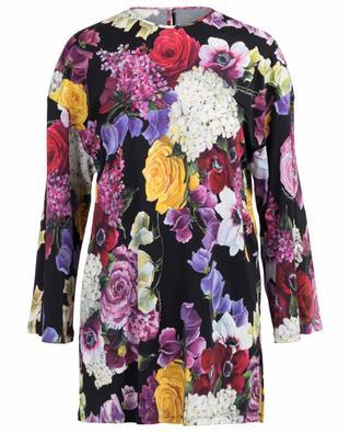Floral print viscose tunic DOLCE & GABBANA