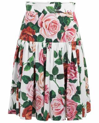 Floral print cotton skirt DOLCE & GABBANA