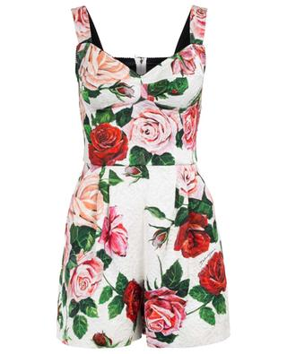 Rose print playsuit with sewn-in bodice DOLCE & GABBANA