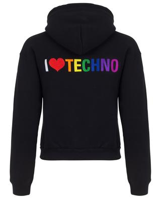 Sweat-shirt zippé raccourci I Love Techno BALENCIAGA