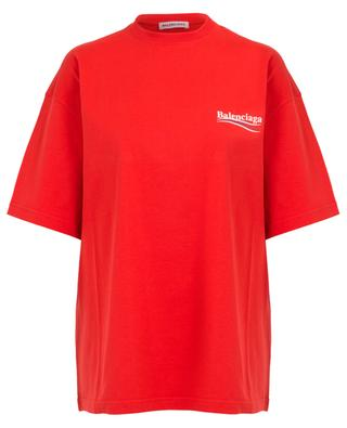 Oversize-T-Shirt mit Logo Political Campaign BALENCIAGA