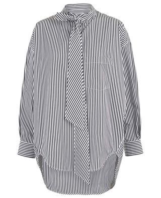 Chemise oversize rayée avec logo New Swing BALENCIAGA