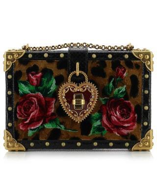 Dolce Box leather and velvet handbag DOLCE & GABBANA