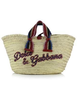 Stroh-Shopper mit Logo Kendra DOLCE & GABBANA