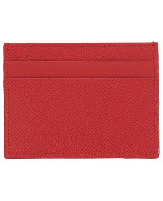 Dauphine DG Strass textured leather card-holder DOLCE & GABBANA