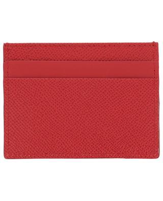 Dauphine DG Strass textured leather card-holder DOLCE & GABBANA