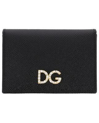 Porte-cartes en cuir texturé Dauphine DOLCE & GABBANA