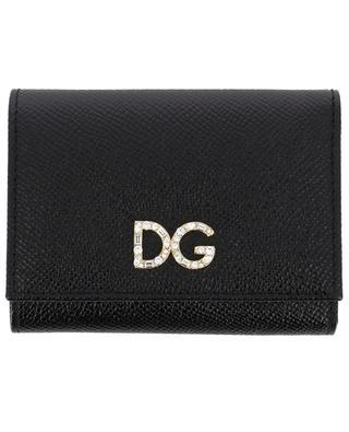 Petit portefeuille en cuir DG Strass DOLCE & GABBANA