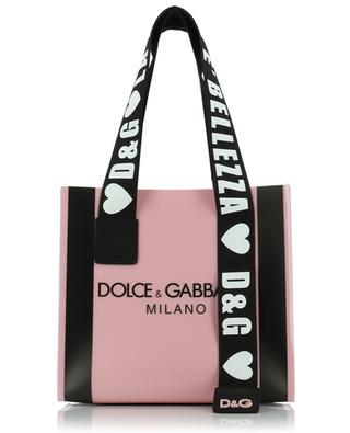 Shopper aus PVC mit Logo Street DOLCE & GABBANA