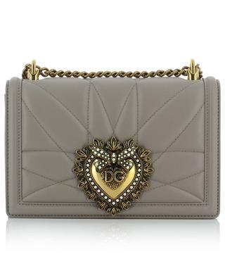 Devotion Medium quilted leather shoulder bag with heart DOLCE & GABBANA