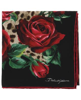 Silk floral printed shawl DOLCE & GABBANA