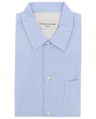 JS cotton and linen shirt OFFICINE GENERALE
