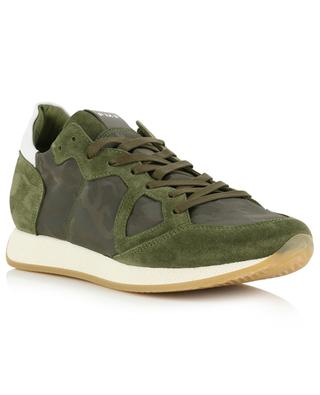 Monaco low-top camouflage design sneakers PHILIPPE MODEL