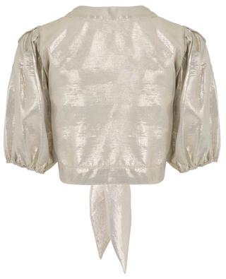 Pouf shiny cropped top to tie LISA MARIE FERNANDEZ