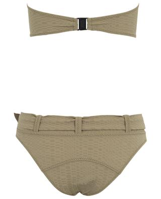Buckle Bandeau belted searsucker bikini LISA MARIE FERNANDEZ