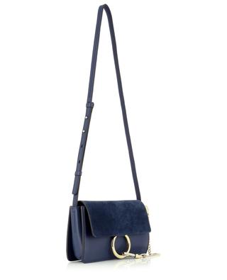 Faye small leather and suede shoulder bag CHLOE