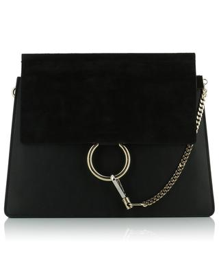 Faye suede and leather shoulder bag CHLOE