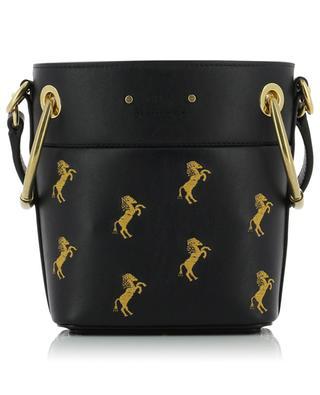 Mini-Bucket-Tasche aus besticktem Leder Roy CHLOE