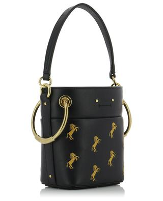 Roy embroidered leather mini bucket bag CHLOE