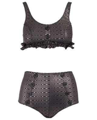 Gerüschter Metallic-Bikini Colby LISA MARIE FERNANDEZ