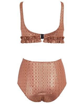 Colby ruffled metallic effect bikini LISA MARIE FERNANDEZ