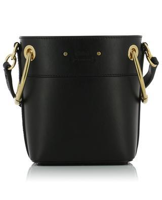 Mini-Bucket-Tasche aus steifem Leder Roy CHLOE