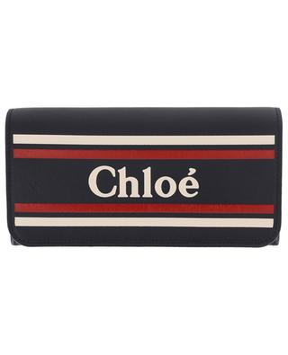 Smooth leather wallet with logo CHLOE
