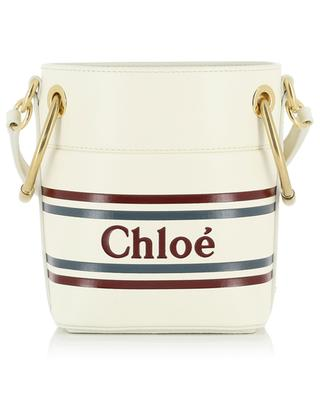 Roy logo embossed mini bucket bag CHLOE