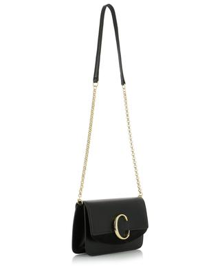 Chloé C leather clutch with chain CHLOE