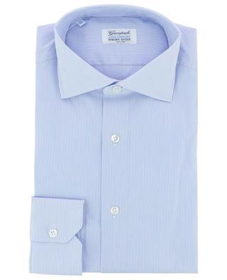 Fein gestreiftes Slim-Fit-Hemd aus Popeline GIAMPAOLO