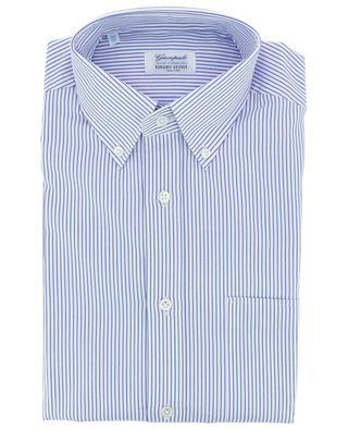Gestreiftes Hemd aus Twill mit geknöpftem Kragen GIAMPAOLO