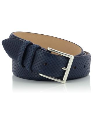 Dot textured leather belt NEW BELT