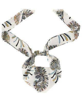 Fascia Paisley printed silk headband ETRO