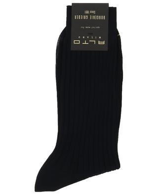 Chaussettes courtes fines en maille côtelée ALTO