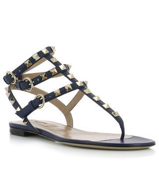 Flache Sandalen aus Leder Rockstud VALENTINO