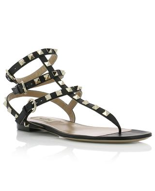 Sandales plates en cuir Rockstud VALENTINO