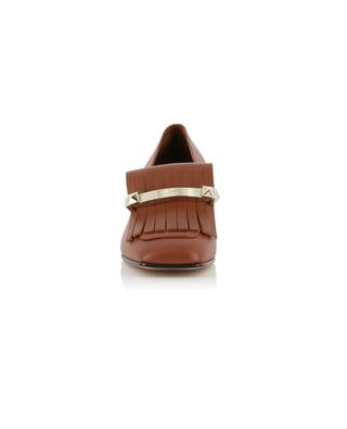 Fringe Moccasin heeled loafers VALENTINO