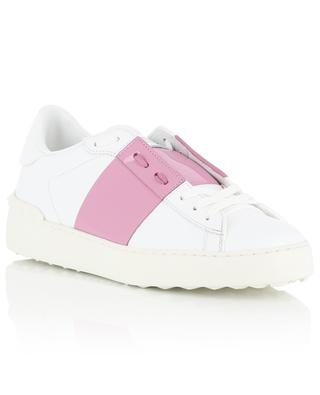 Open low-top leather and patent leather sneakers VALENTINO