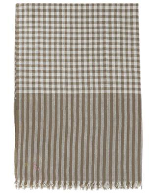 Checked cashmere pashmina SHAW & BROTHERS