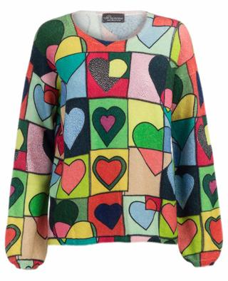 Kristallbesetzter Pullover aus Wollmix PRINCESS
