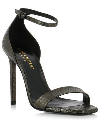 Amber 105 metallic leather sandals SAINT LAURENT PARIS