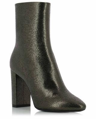 Lou 95 metallic leather ankle boots SAINT LAURENT PARIS