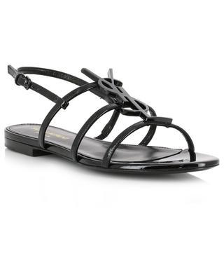 Sandales plates monogrammées Cassandra 05 SAINT LAURENT PARIS
