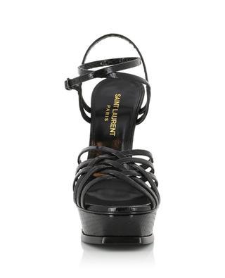Tribute Cage 105 snake effect patent leather sandals SAINT LAURENT PARIS