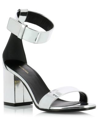 Metallic leather sandals with mirror effect BALENCIAGA