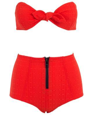 Bikini bandeau et bas taille haute Poppy LISA MARIE FERNANDEZ