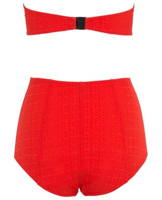 Poppy bandeau bikini with high-rise bottom LISA MARIE FERNANDEZ