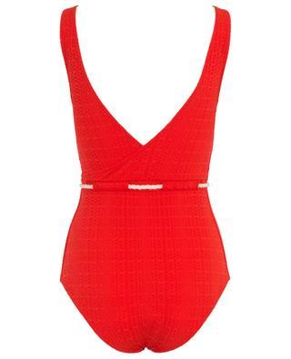 Yasmine seersucker swimsuit with drawstring LISA MARIE FERNANDEZ