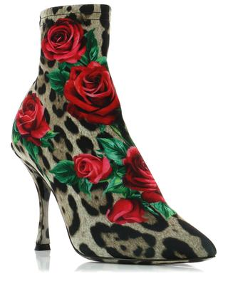 Lori printed jersey ankle boots DOLCE & GABBANA