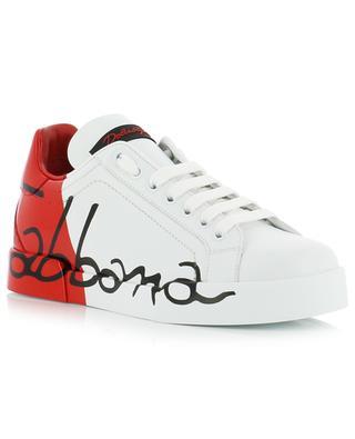 Portofino Light bitone leather sneakers DOLCE & GABBANA